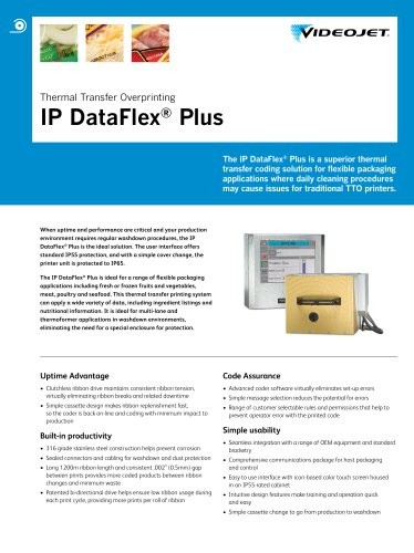 Thermal Transfer Overprinting IP DataFlex ® Plus