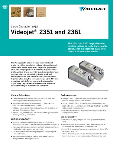 Videojet® 2351 and 2361