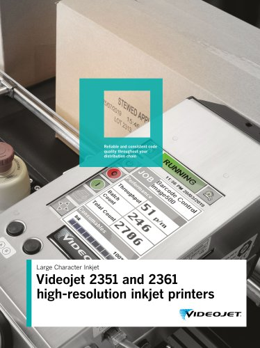 Videojet 2351 and 2361 high-resolution inkjet printers