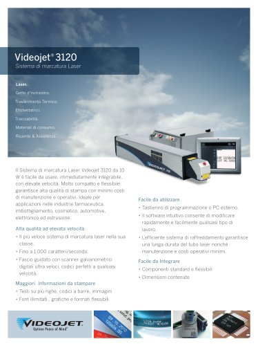 Videojet CO2 Laser 3120 Italiano