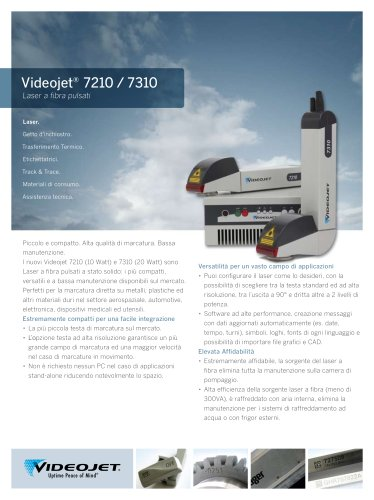 Videojet Fibre Laser 7310 and 7210 Italiano