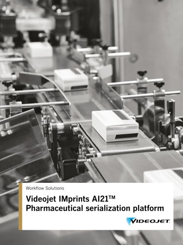 Videojet IMprints AI21TM Pharmaceutical serialization platform
