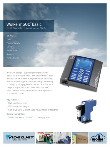 Wolke m600 basic Small Character Thermal Ink Jet Printer