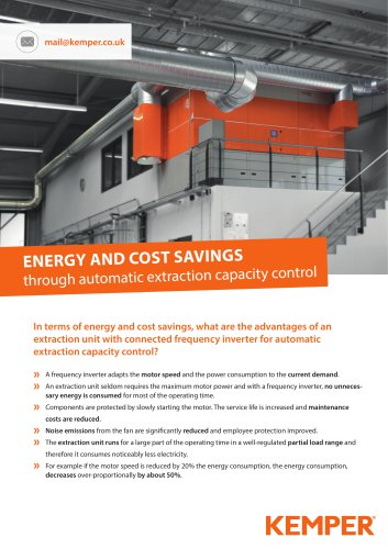 Energy and cost savings with central extraction systems