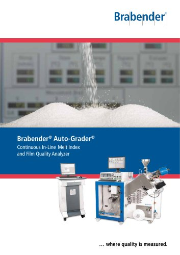 Auto-Grader: Continuous In-Line Melt Index and Film Quality Analyzer