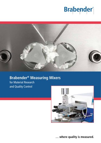 Brabender Measuring Mixers for material research and quality control