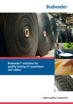Brabender solutions for quality testing of vulcanised and natural rubber