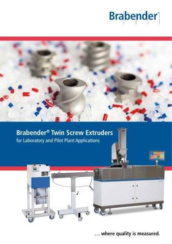 Brabender Twin Screw Extruders for laboratory and pilot plant