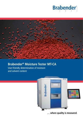 Moisture Tester MT-CA: Determination of the residual moisture in polymers