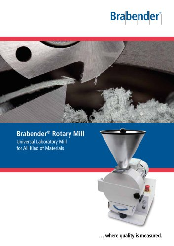 Rotary Mill: Universally applicable laboratory mill for various materials