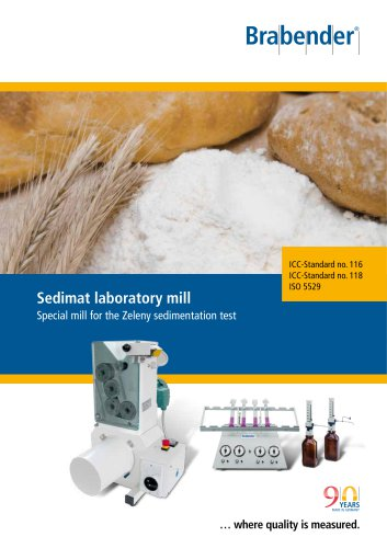Sedimat: Special laboratory mill for the Zeleny sedimentation test