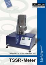 TSSR-Meter: Anisothermal stress relaxation test for characterizing TPE, elastomers and polymers