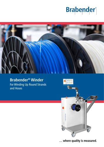 Winder: for winding up round strands and hoses