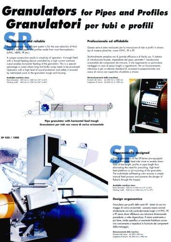 granulatori per tubi e profili