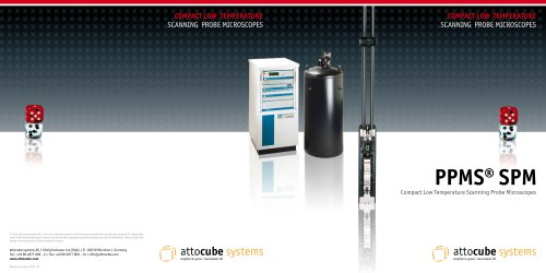 PPMS® SPM, Compact Low Temperature Scanning Probe Microscopes