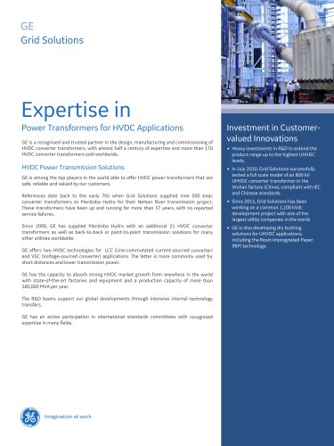 Expertise in Power Transformers for HVDC Applications