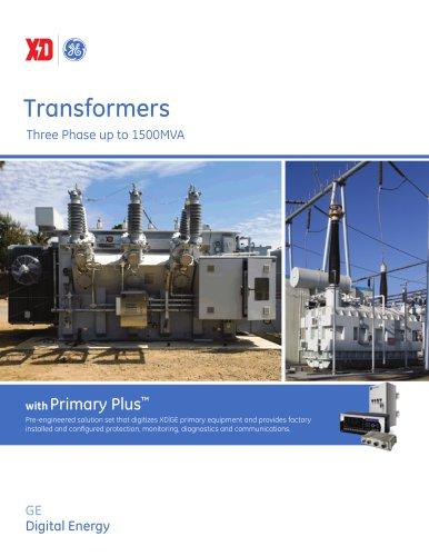 Transformers Three Phase up to 1500MVA