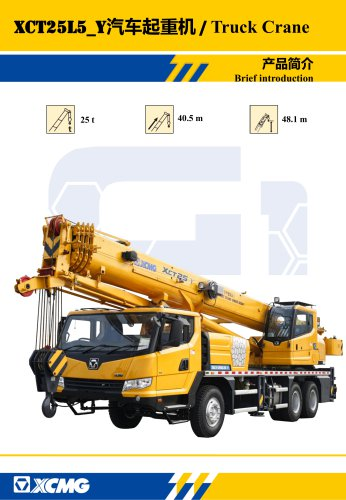 New XCMG truck crane 25 ton small hydraulic mobile crane XCT25L5_Y(right Driving)