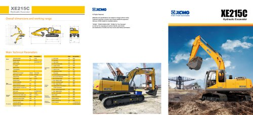XCMG crawler excavator 21 ton rc excavator XE215C