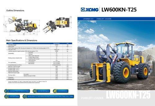 XCMG Forklift Loader LW600KN-T25