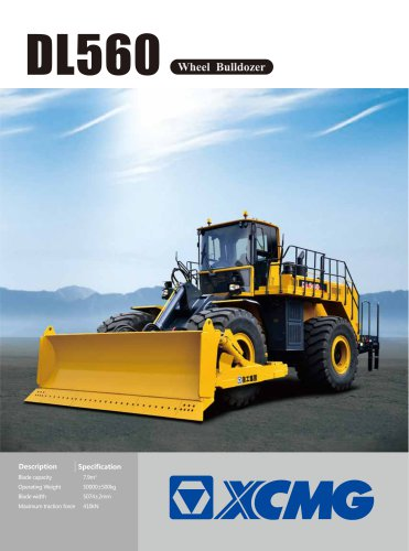 XCMG official DL560 350HP Wheel Bulldozer