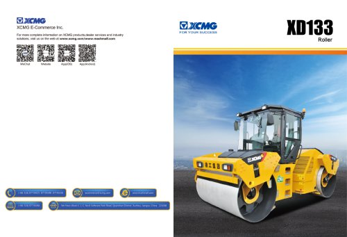 XCMG  road roller XD133 construction