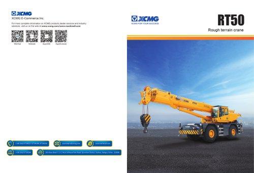 XCMG  truck crane RT50 construction