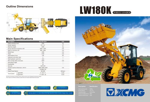 XCMG Wheel Loader LW180K