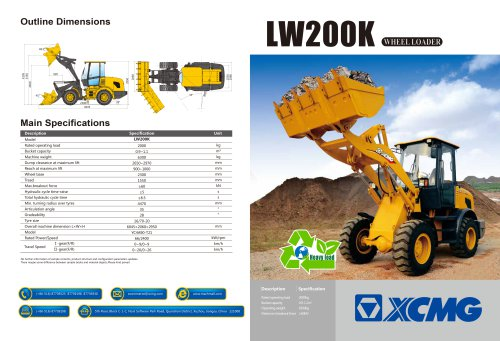 XCMG  Wheel loader LW200K construction