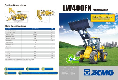 XCMG Wheel Loader LW400FN