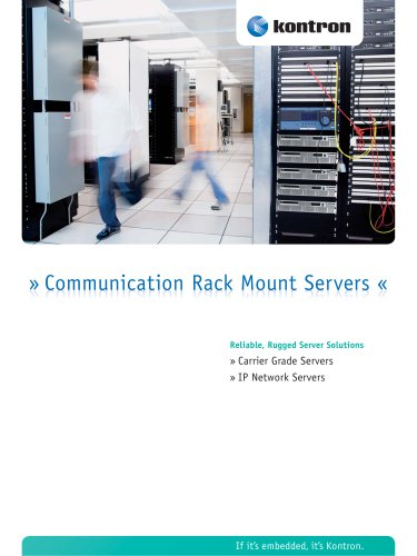 Communication Rack Mount Servers Brochure