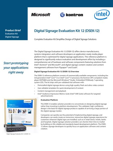 Complete Evaluation Kit Simplifies Design of Digital Signage Solutions