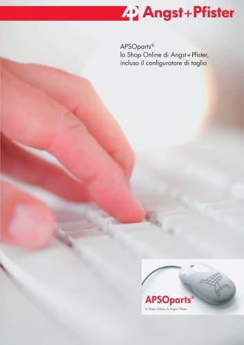 APSOparts® lo Shop Online di Angst+Pfister, incluso il configuratore di taglio