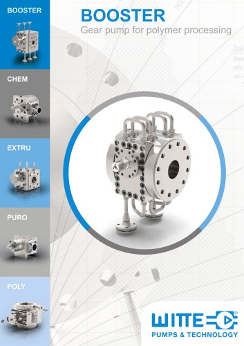 BOOSTER Gear pump for polymer processing