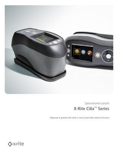 Spettrofotometri portatili X-Rite Ci6x™ Series