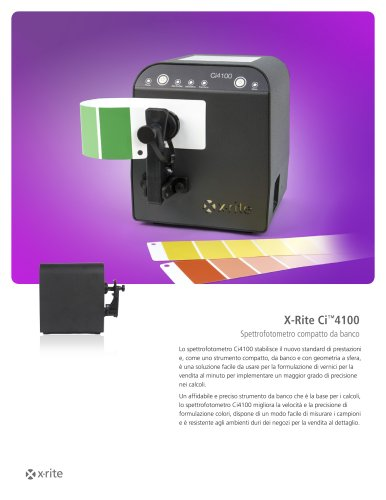 X-Rite Ci™4100 Spettrofotometro compatto da banco