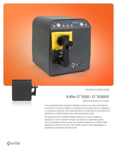 X-Rite Ci™4200 / Ci™4200UV Spettrofotometro da tavolo