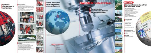 Components, Systems and Service for Machine Tools