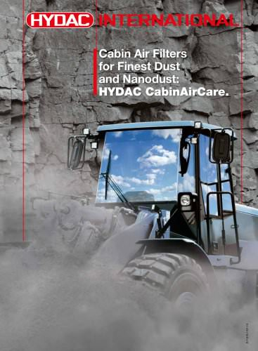 HYDAC CabinAirCare - Cabin Air Filters for Finest Dust and Nanodust.