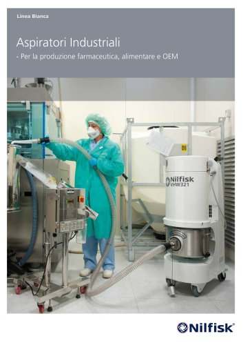 Aspiratori industriali per farmaceutica, alimentare e OEM