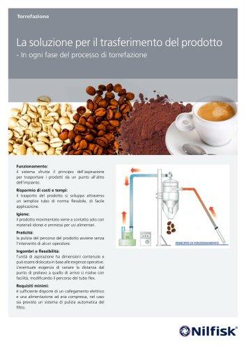 La soluzione per il trasferimento del prodotto - in ogni fase del processo di torrefazione.