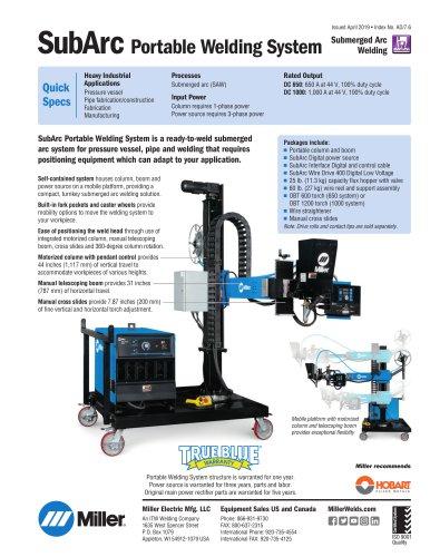SubArc Portable Welding System