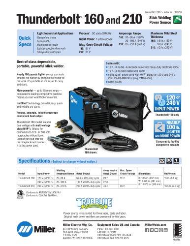 Thunderbolt®160and 210