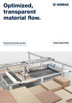 Optimized, transparent material flow