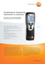 Temperature measuring instrument (1-channel) - testo 925