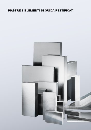 Catalogo PDF (Piastre in acciaio e in aluminio, acciaio piatto di precisione e acciaio quadro )