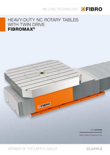 FIBROMAX  Second-generation heavy-load positioning table features high rigidity and efficiency