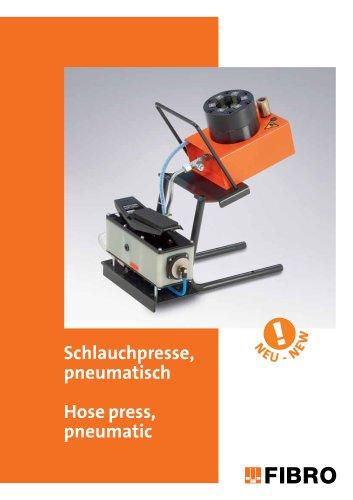 Hose press, pneumatic / Hose shears