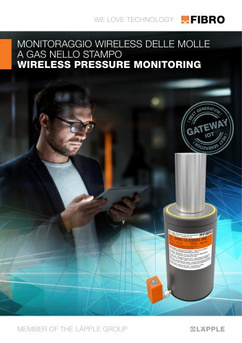 WIRELESS PRESSURE MONITORING CONTROLLO VIA RADIO DELLE MOLLE A GAS NELL' UTENSILE