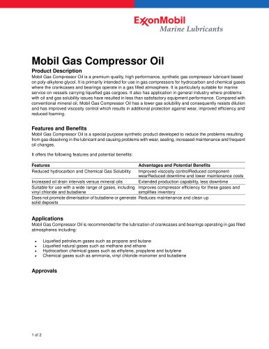 Mobile Gas Compressor Oil